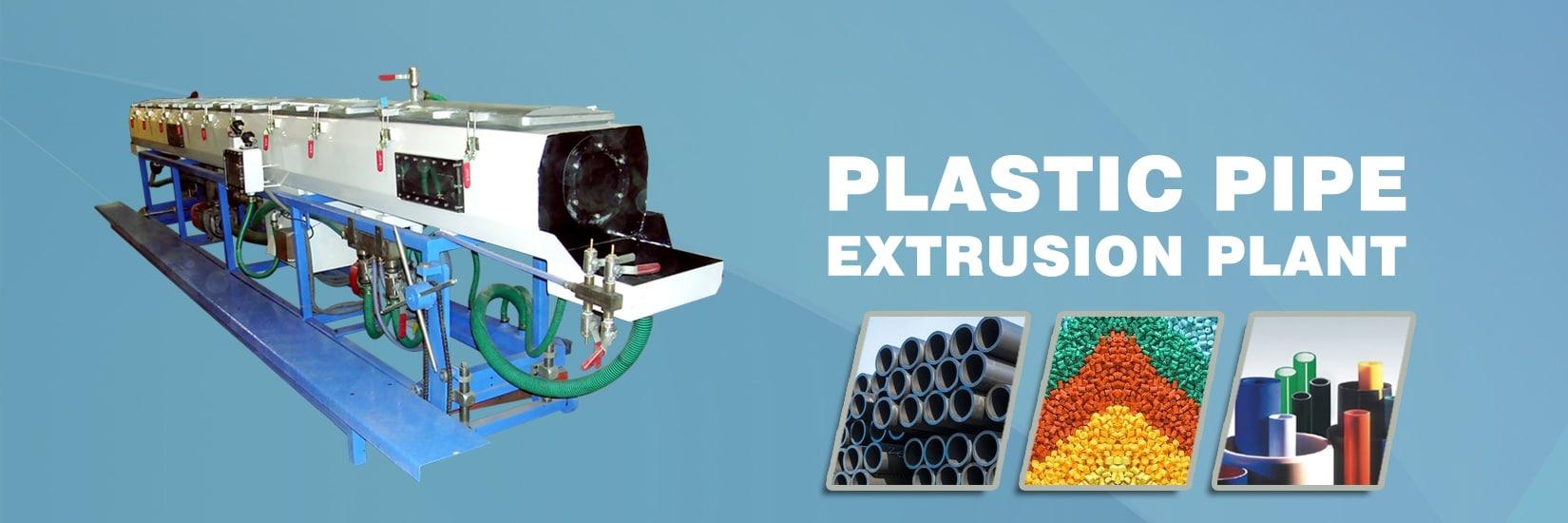 Plastic Pipe Extrusion Plant in India